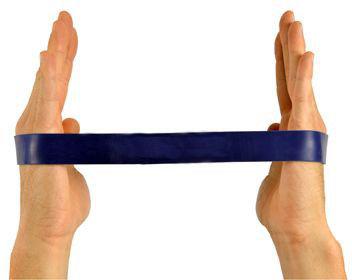 Gumowa pętla do ćwiczeń oporowych - Taśma Loop - opór bardzo mocny (niebieska)