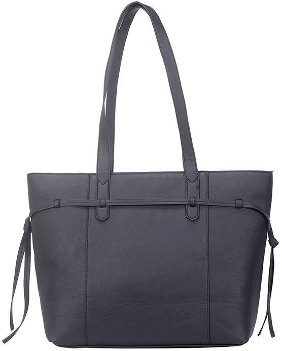 Czarna torebka shopper bag z frędzlami CRUZ