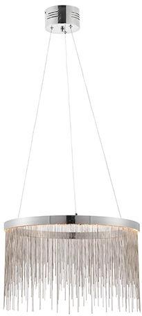 Lampa wisząca Zelma LED 73768 Endon srebrna oprawa w stylu nowoczesnym