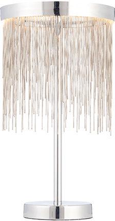 Lampa stołowa Zelma LED 73769 Endon srebrna oprawa w stylu nowoczesnym
