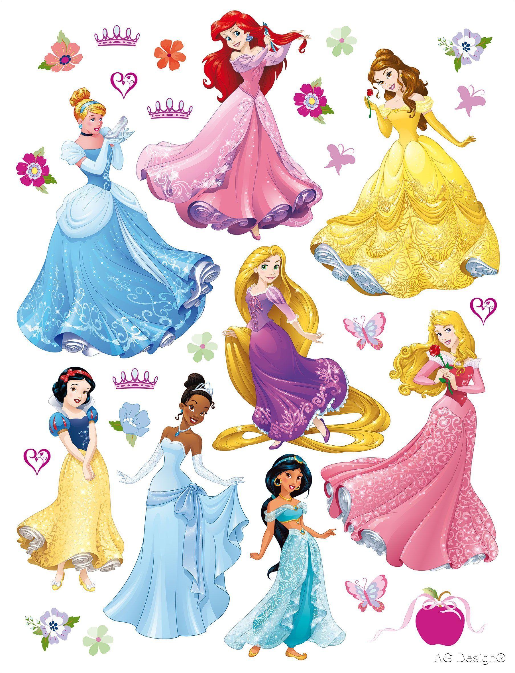 Naklejka ścienna DK 1722 Disney Princess księżniczka