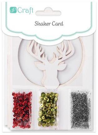 Kreatywna Kartka Świąteczna Shaker Card, Renifer