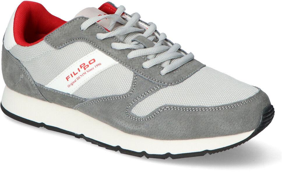 Szare Sneakersy Męskie Filippo Filippo MSP2117/21GR Grey