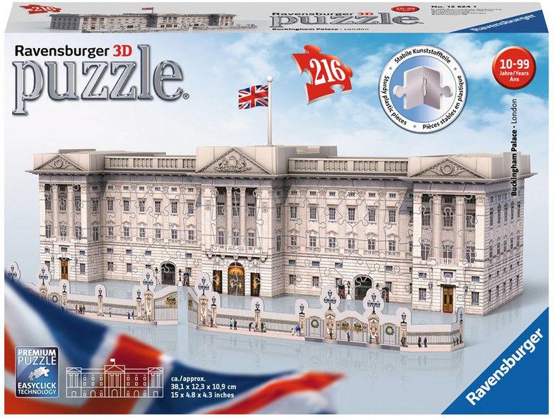 Ravensburger - Puzzle 3D Pałac Buckingham 216 el. 125241
