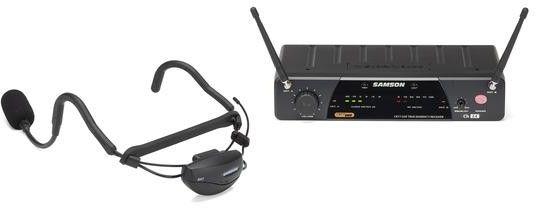 Samson AL77/AH7 FITNESS - AIRLINE zestaw bezprzewodowy z mikrofonem nagłownym - 492,425Mhz