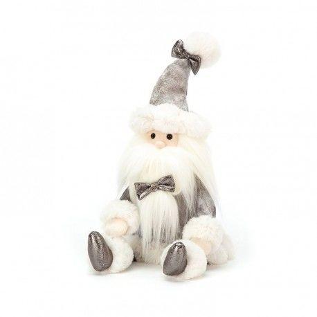 MASKOTKA JELLYCAT Srebrny Święty Mikołaj - 34 cm