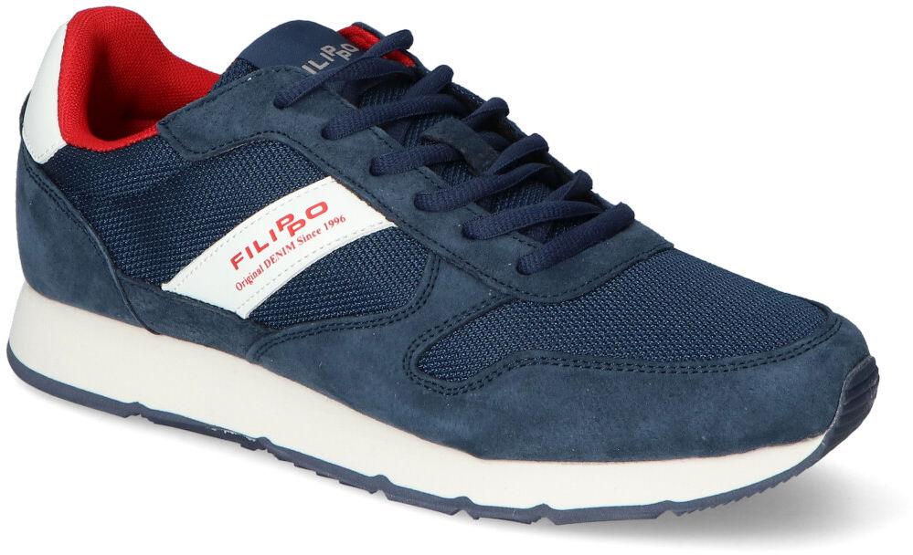 Granatowe Sneakersy Męskie Filippo Filippo MSP2117/21NV Navy