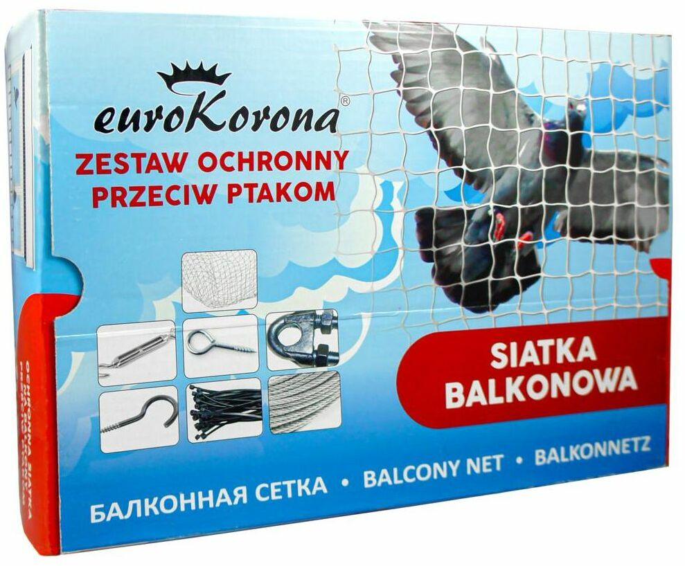 Siatka ochronna przeciw ptakom balkonowa Eurokorona