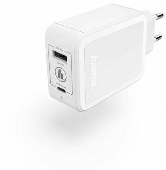 Ładowarka sieciowa HAMA Qualcomm Quick Charge/Power Delivery Biały DARMOWY TRANSPORT!