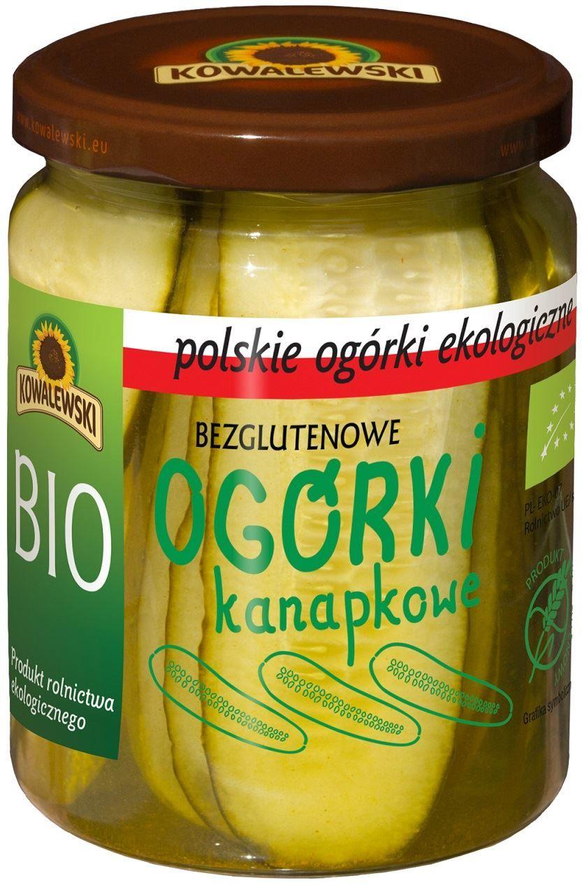 Ogórki konserwowe krojone kanapkowe bezglutenowe bio 540 ml (270 g) - kowalewski