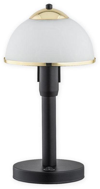 Lava lampka stołowa 1 pł. / czarny matowy + złoty