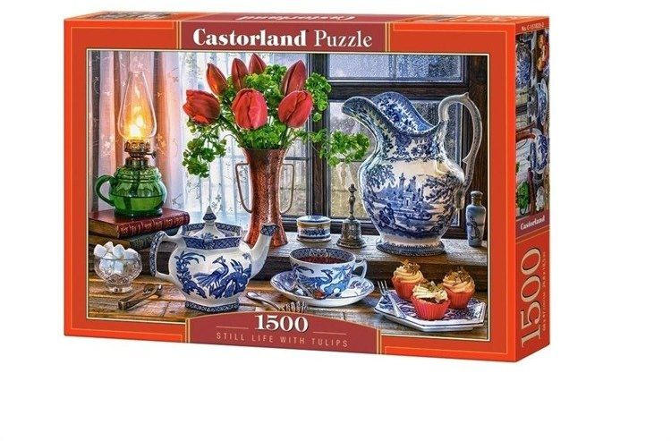 Puzzle 1500 Still Life with Tulips - Castorland