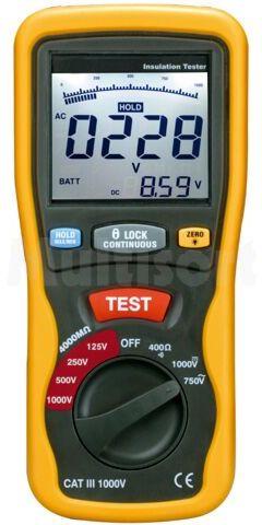 Miernik rezystancji izolacji 0,125M  4M/40M/400M/4000MOhm