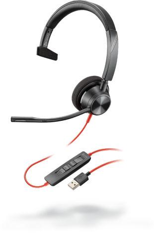 POLY 3310 Zestaw słuchawkowy Opaska na głowę USB Typu-A Czarny