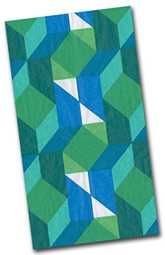 Entertaining with Caspari Color Theory Papierowe ręczniki dla gości, 15 sztuk, zielony, 11 x 20 x 3 cm
