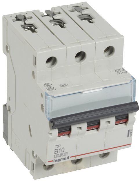 Wyłącznik nadprądowy 3P B 10A 6kA AC S303 TX3 403400/605548