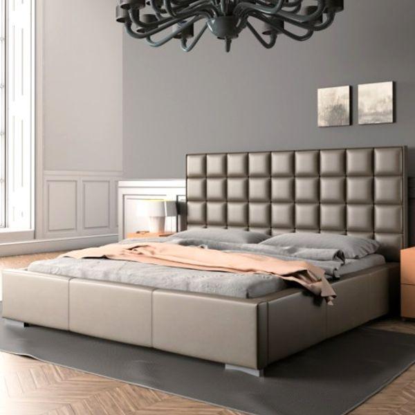 Łóżko QUADDRO MINI NEW DESIGN tapicerowane, Rozmiar: 140x200, Tkanina: Grupa III, Pojemnik: Bez pojemnika Darmowa dostawa, Wiele produktów dostępnych od ręki!