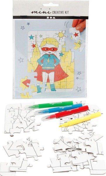 Zestaw mini puzzle - Super bohater