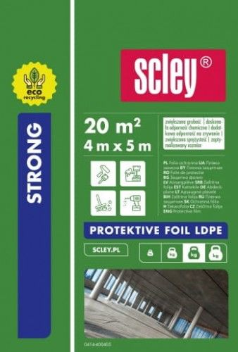 SCLEY folia malarska KAEM 4m x 5m STRONG ochronna