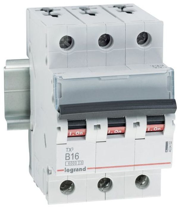 Wyłącznik nadprądowy 3P B 16A 6kA AC S303 TX3 403402