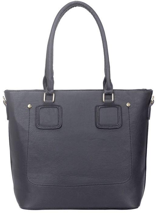 Duża torba shopper bag czarna A4 Rivera