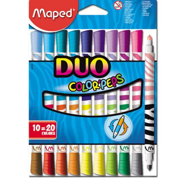 Flamastry COLORPEPS DUO-dwustronne 10 SZT - 20 kolorów - X00916