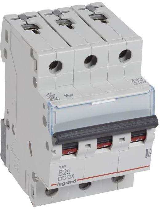 Wyłącznik nadprądowy 3P B 25A 6kA AC S303 TX3 403404