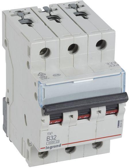 Wyłącznik nadprądowy 3P B 32A 6kA AC S303 TX3 403405