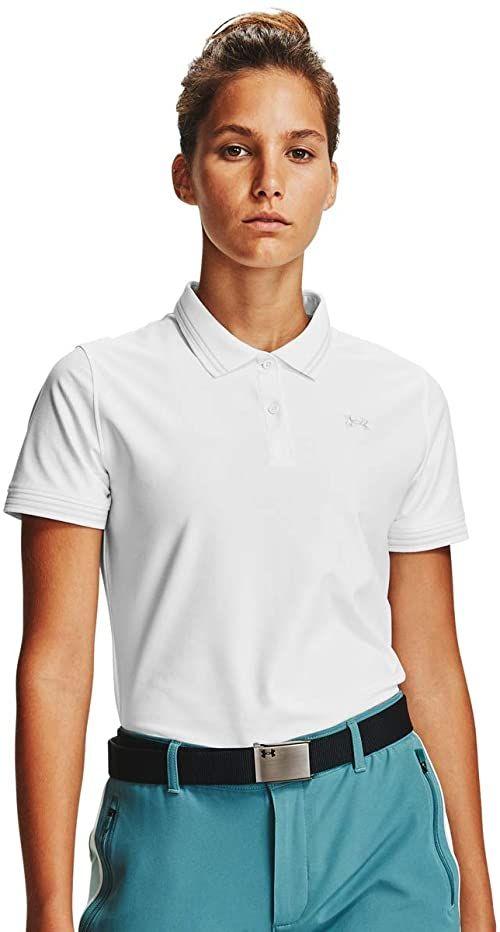 Under Armour Damska koszulka polo Zinger Pique Biały/szary aureolowy/szary (100) XL