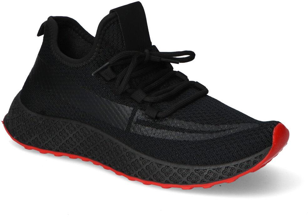 Czarno-Czerwone Sneakersy Męskie Filippo Filippo MTN2179/21BKRD Black/Red