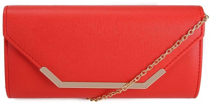 Czerwona kopertówka z łańcuszkiem Fanny