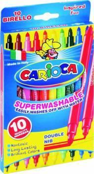 Flamastry 10 kolorów CARIOCA BIRELLO - X00569