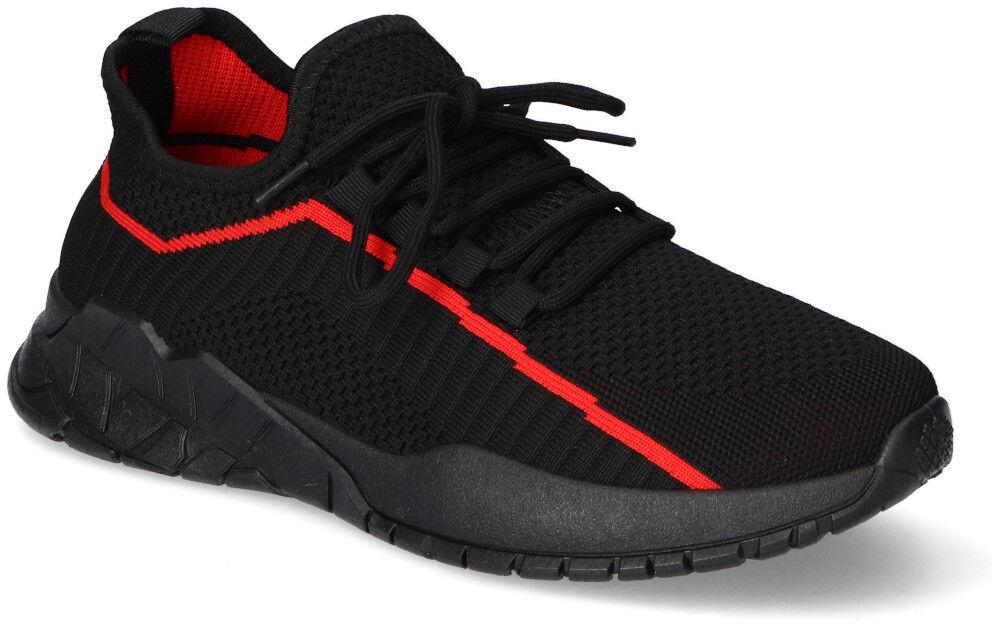 Czarno-Czerwone Sneakersy Filippo Filippo MTN2291/21BKRD Black/Red