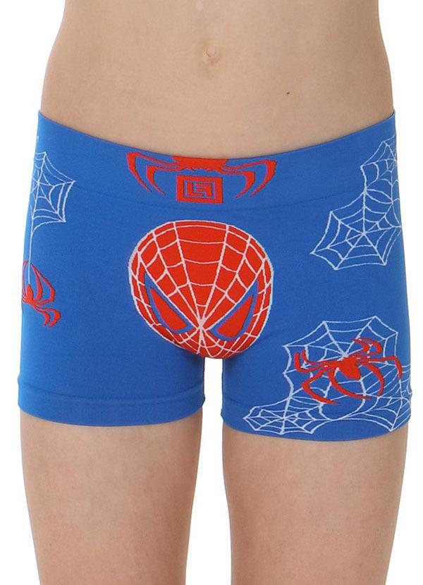 Bokserki Chłopięce termoaktywne BIMBO Spider Blu