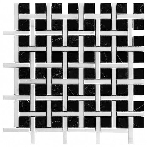 DUNIN B&W Black & White mozaika kamienna Pure Black BW02