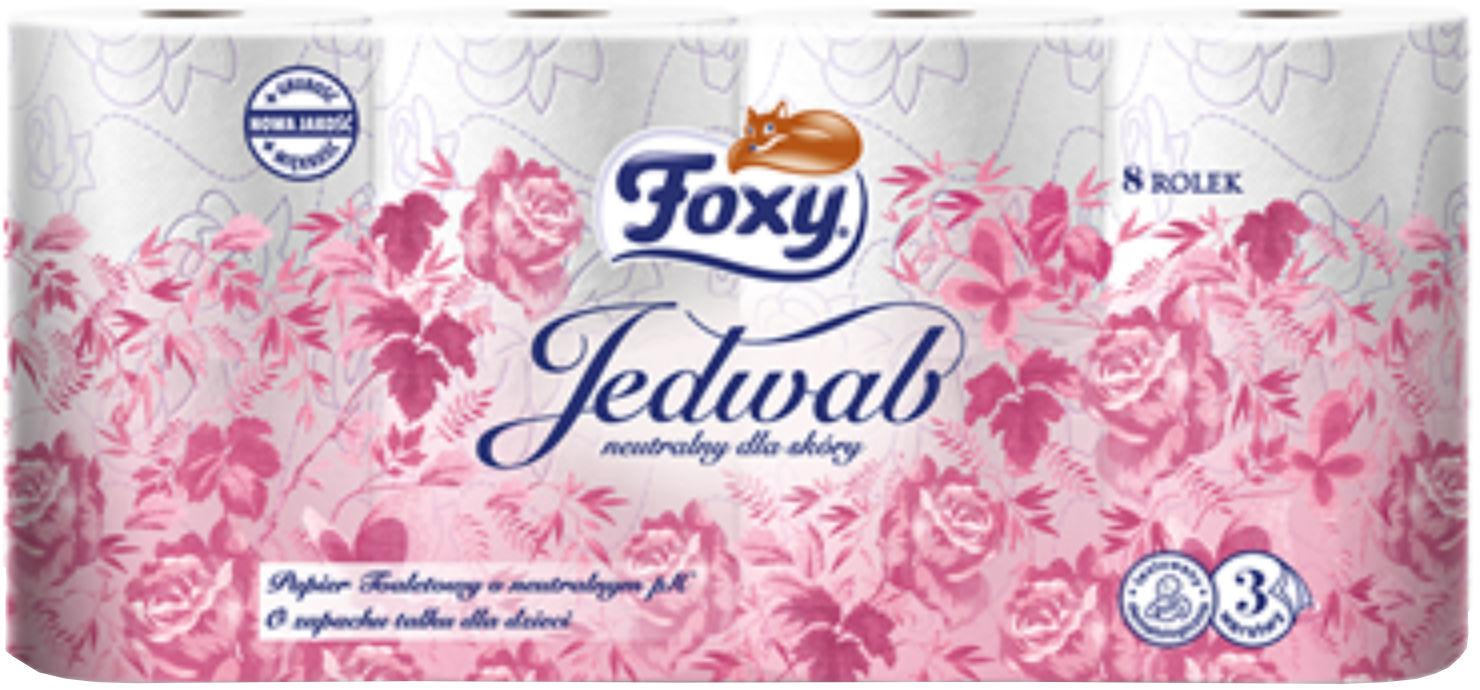 Papier toaletowy celuloza 3w biały Foxy Jedwab (8)