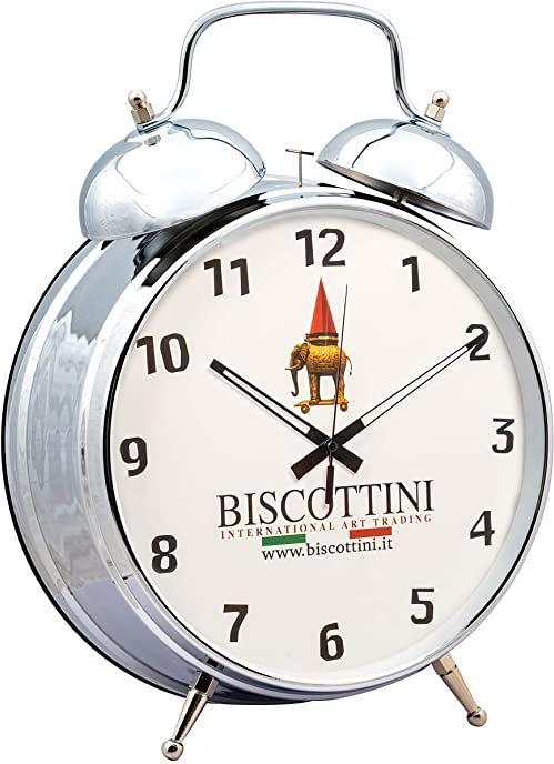Biscottini budzik w stylu vintage z podwójnym dzwonkiem, średnica 30 cm