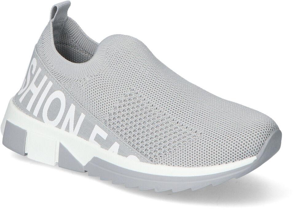 Materiałowe Sneakersy Filippo Szare Filippo DTN2297/21GR Grey