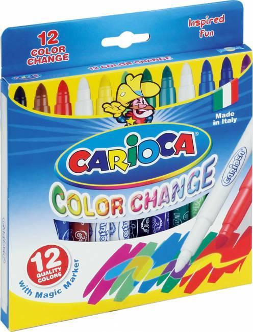 Flamastry 12 kolorów CARIOCA CAMBIACOLOR - X00572