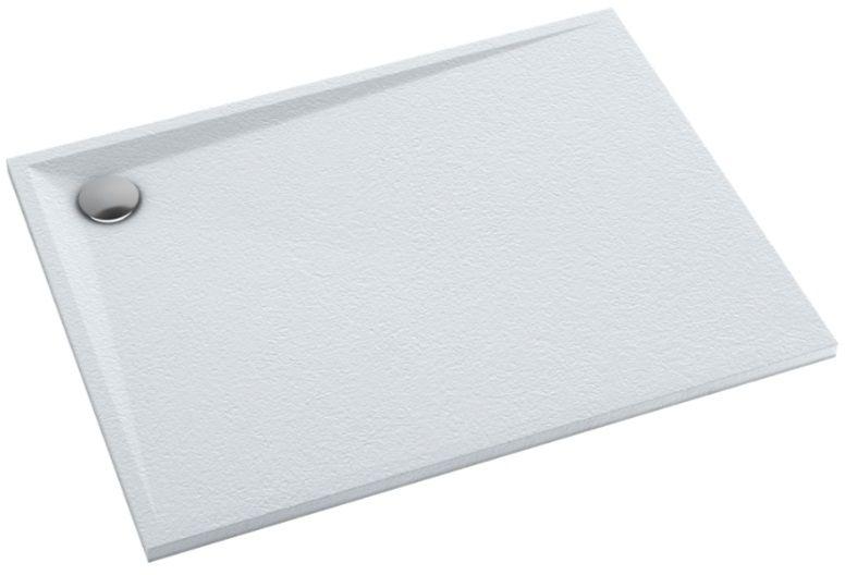 Schedpol Schedline Libra White Stone brodzik prostokątny 90x80x3cm 3SP.L4P-8090