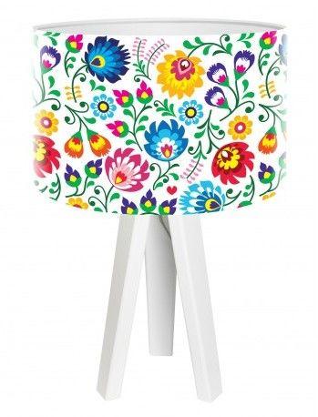 Lampa stołowa mini-trójnóg Kwiaty Folk