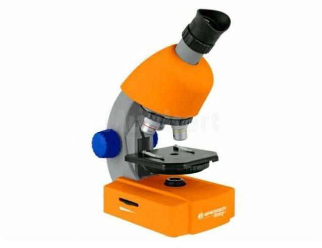 Mikroskop Bresser 40x-640x Junior pomarańczowy