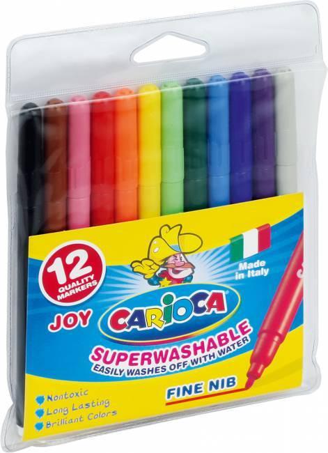 Flamastry 12 kolorów CARIOCA JOY - X00573