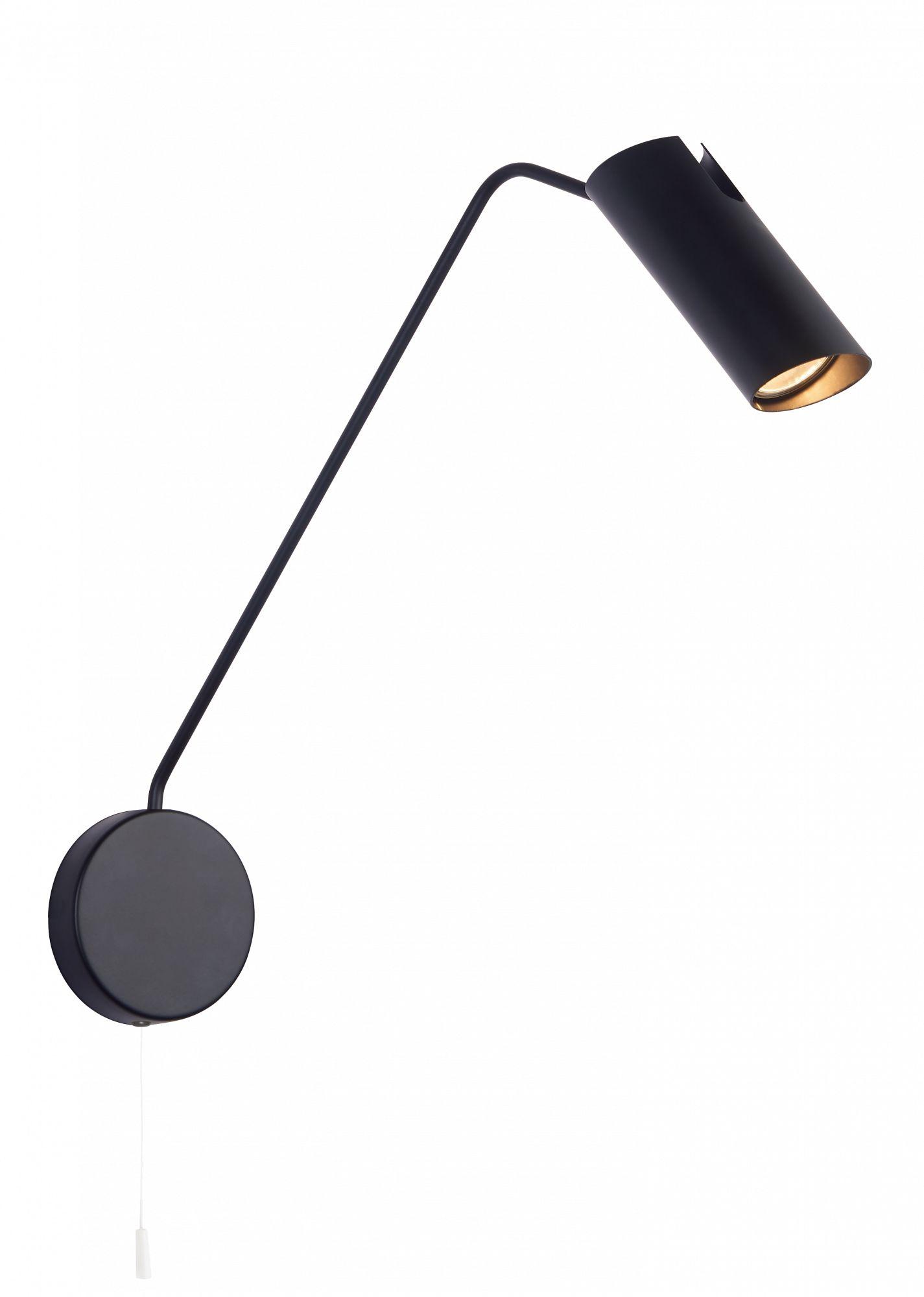 Kinkiet Futuro LP-17001/1WL BK Light Prestige minimalistyczna lampa ścienna z wysięgnikiem w kolorze czarnym