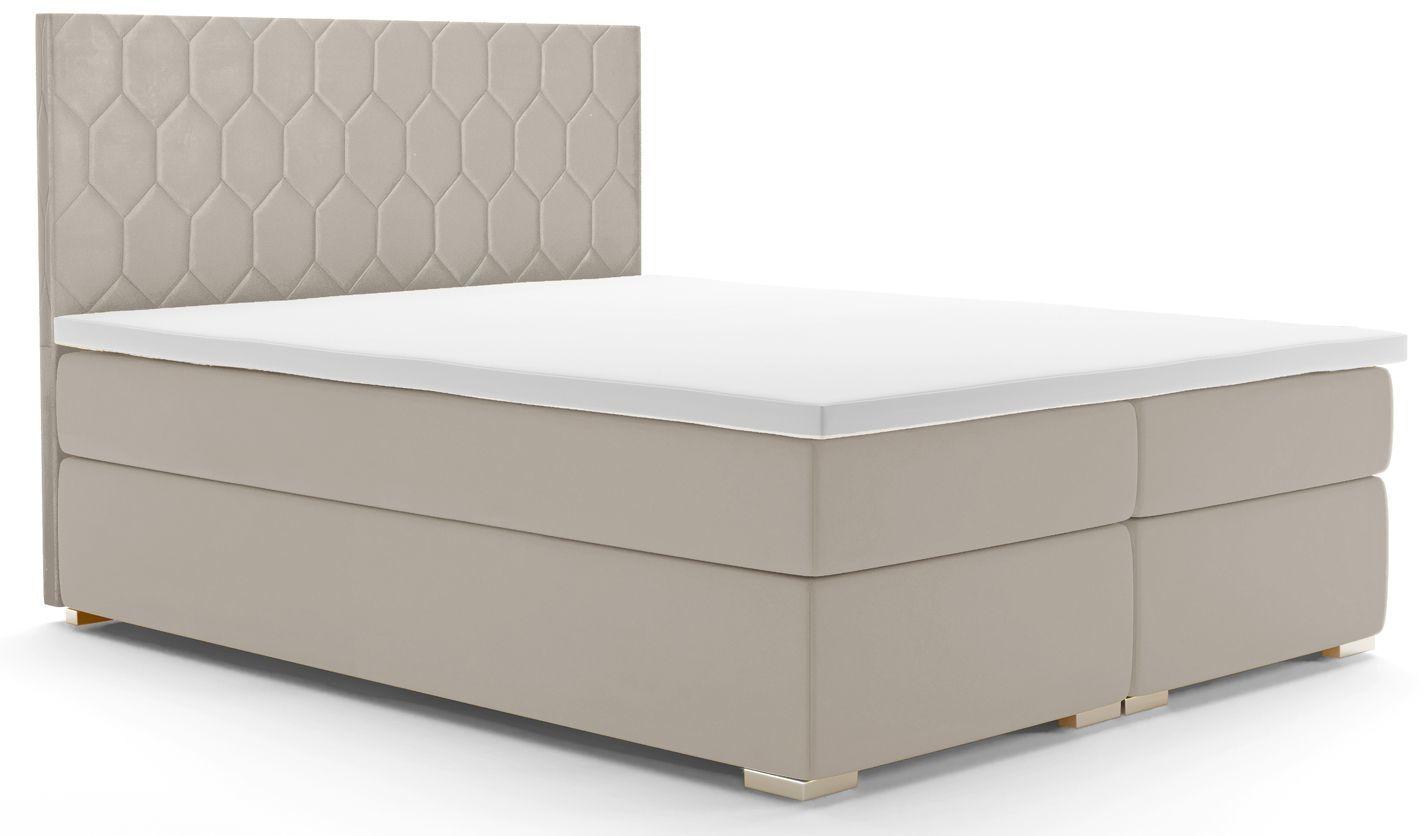 Łóżko kontynentalne dwuosobowe Kallis 140x200 - 58 kolorów