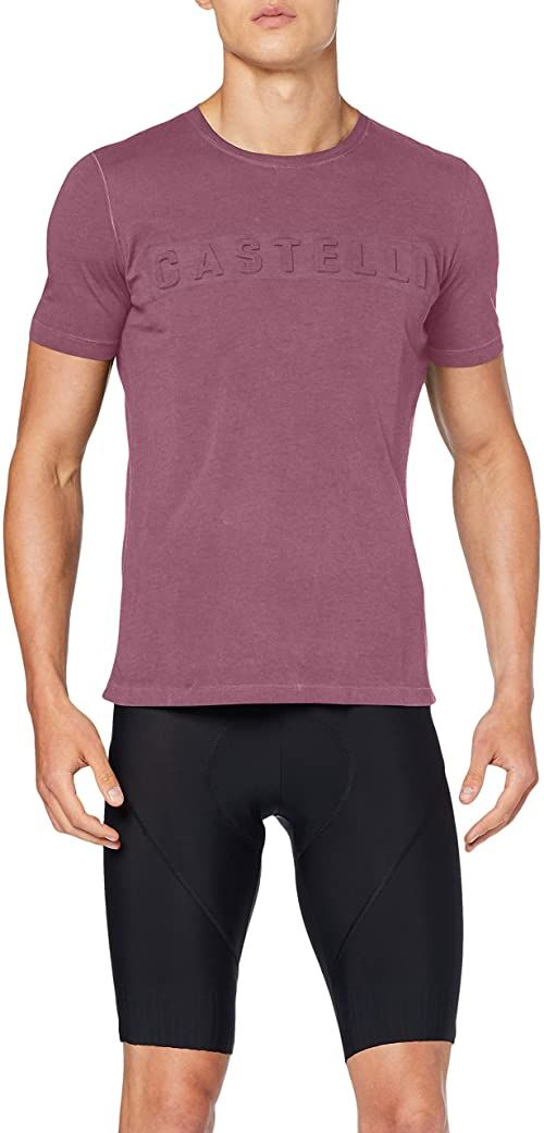CASTELLI Męski t-shirt Bassorilievo Tee czerwony Barabaresco Red M