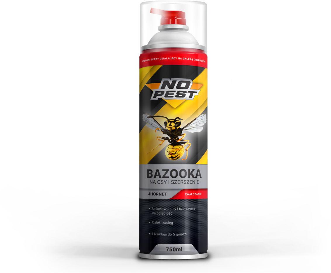 Środek na osy, szerszenie Bazooka na osy NO PEST. Preparat, spray 750ml.