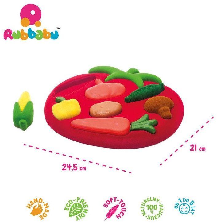 Rubbabu sorter puzzle 3d warzywa sensoryczny