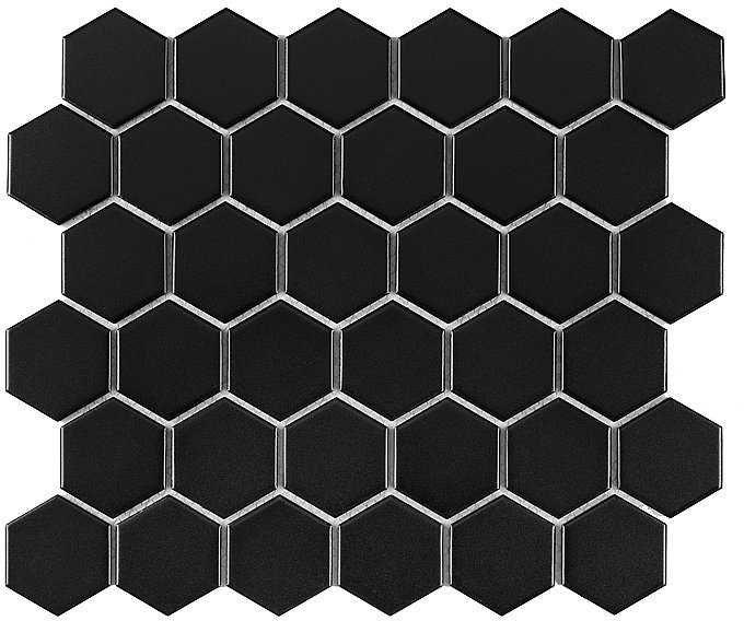 DUNIN mozaika ceramiczna HEXAGON BLACK 51 MATT