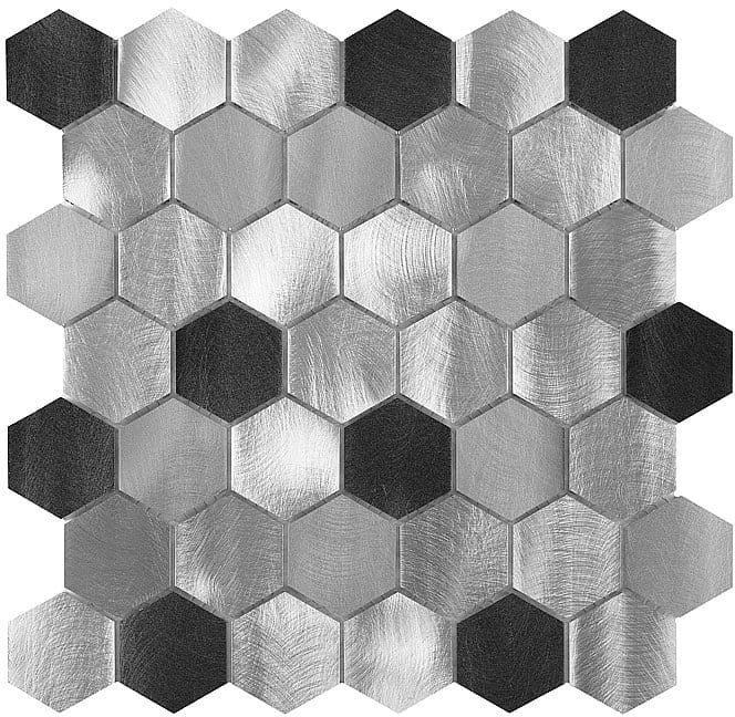 DUNIN mozaika metalowa Allumi Grey HEXAGON MIX 48